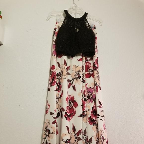 378e6a9a799d Windsor Dresses | Blackpinkwhite Floral Two Piece Prom Dress | Poshmark
